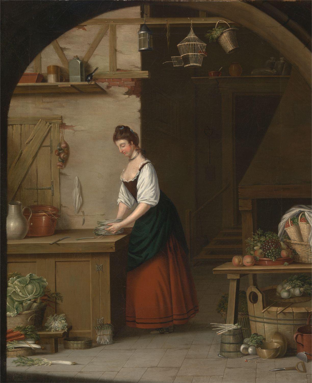 A Girl Bundling Asparagus - Atkinson 1771