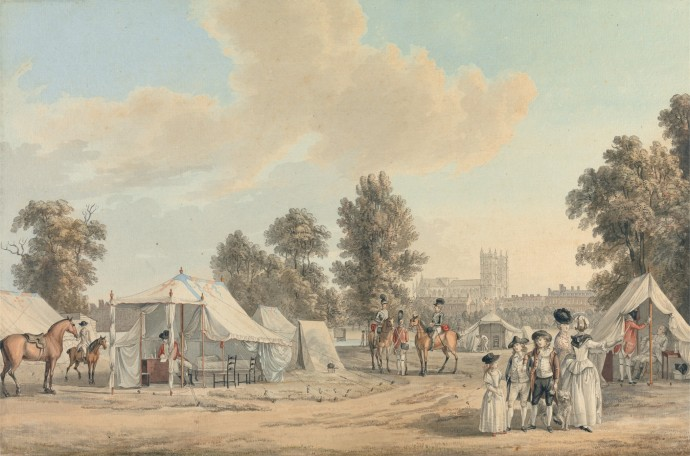 Revolutionary War era British encampment  - By Sandby 1780
