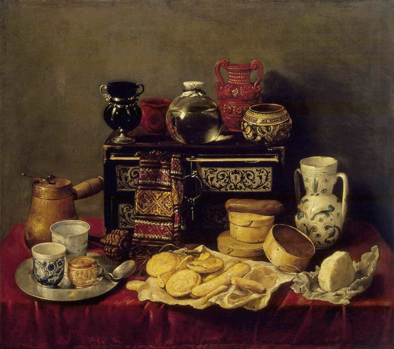 Still life with Ebony Chest by Pereda 1652