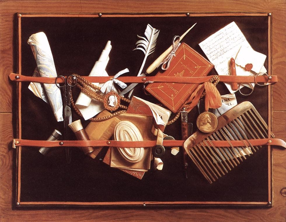 17th century Still Life by Samuel Van Hoogstraten Ca 1666