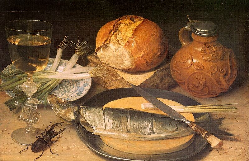 Siftingthepast still life with stag beetle georg flegel 1635 for 17th century french cuisine