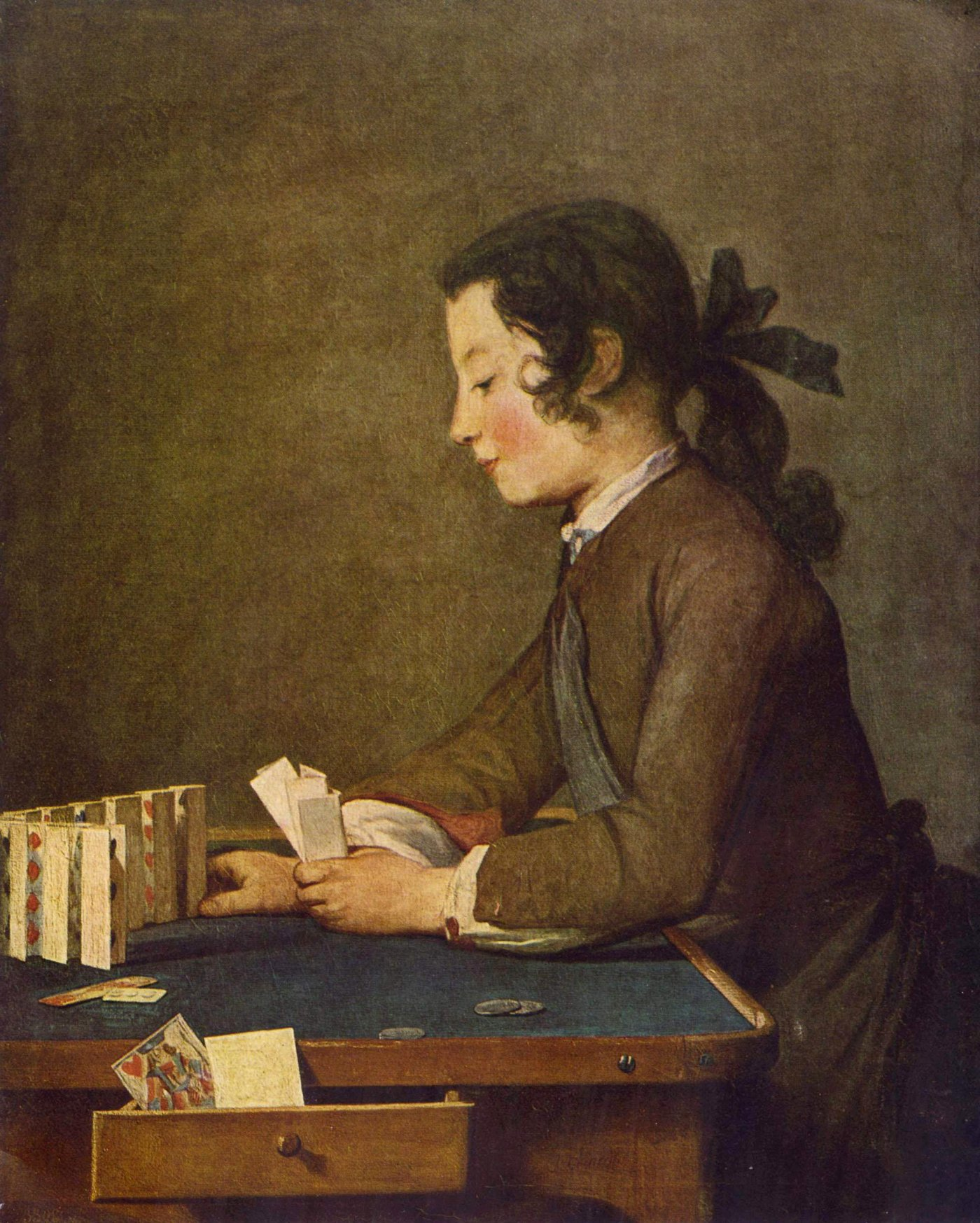 about 1740 - Boy playing Cards by Chardin