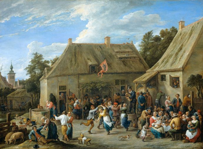 County Festival - 17th Century Dutch Painting by Teniers the Younger