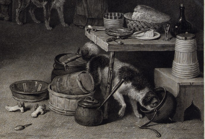 Foreground Table Detail - Village Politicians_David Wilkie and Abraham Raimbach_1813