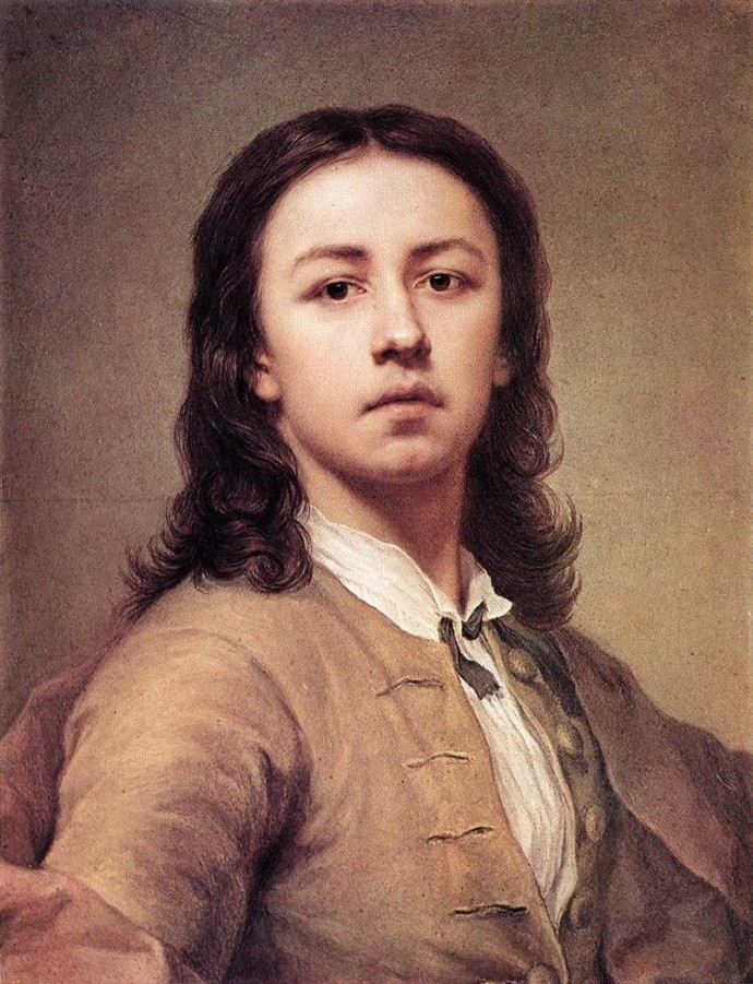 1744- Self Portrage of Mengs - 18th century