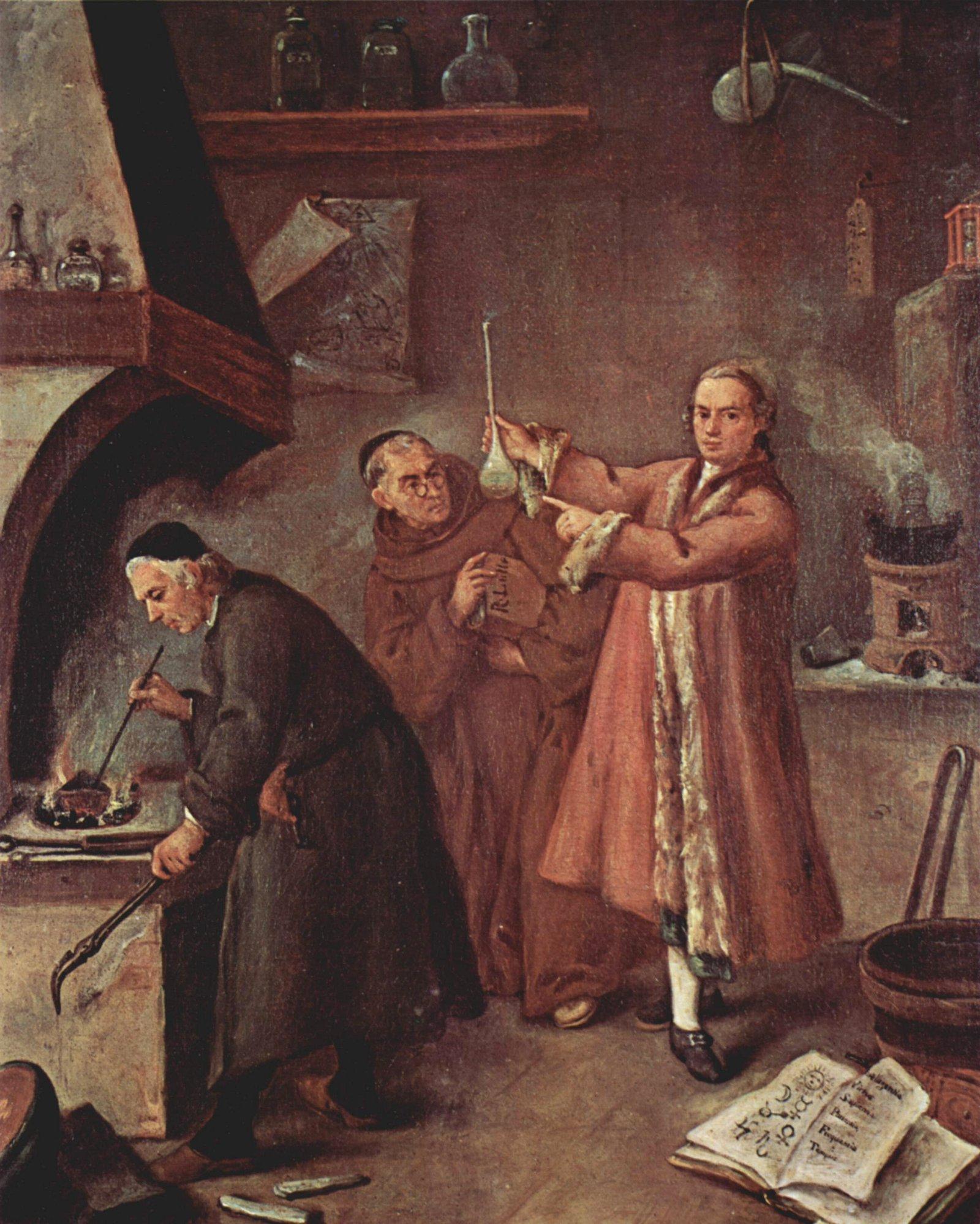1757 Alchemist's lab by Pietro Longhi