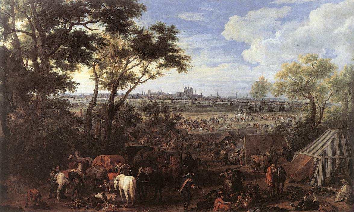 French army camp - 1684