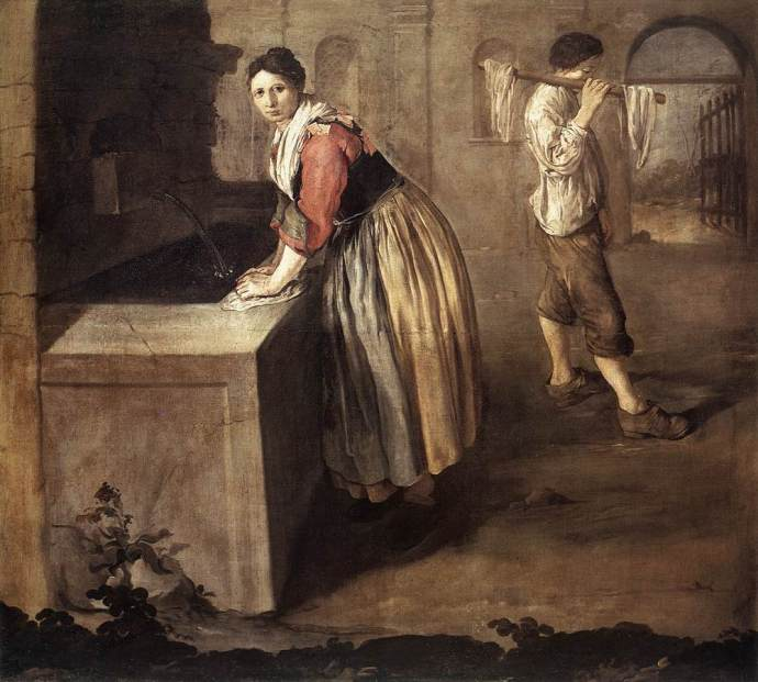 Woman Doing Laudry about 1736 by Ceruti