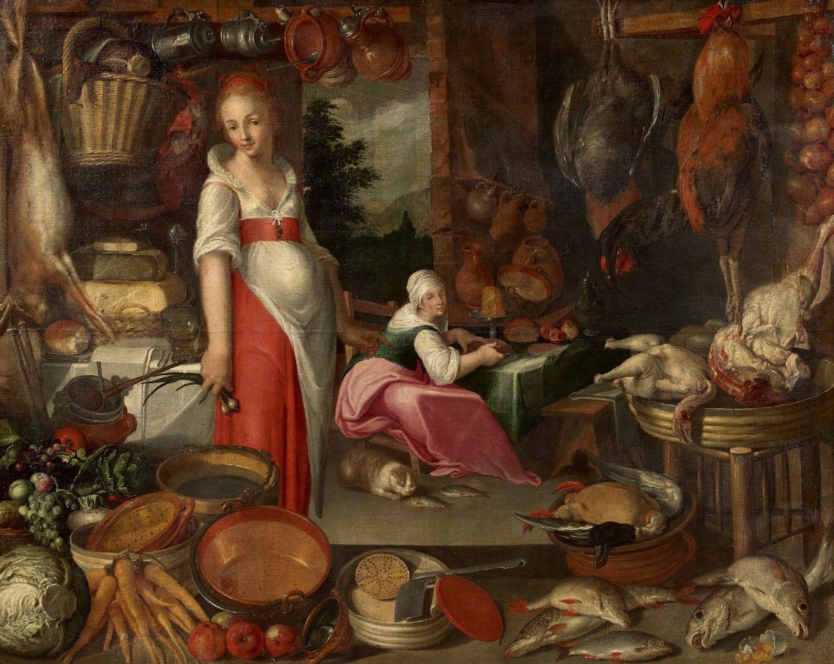 https://siftingthepast.files.wordpress.com/2012/08/siftingthepast_kitchen-with-pieces-cook-and-kitchen-maid_unknown_16th-century.jpg?w=1200