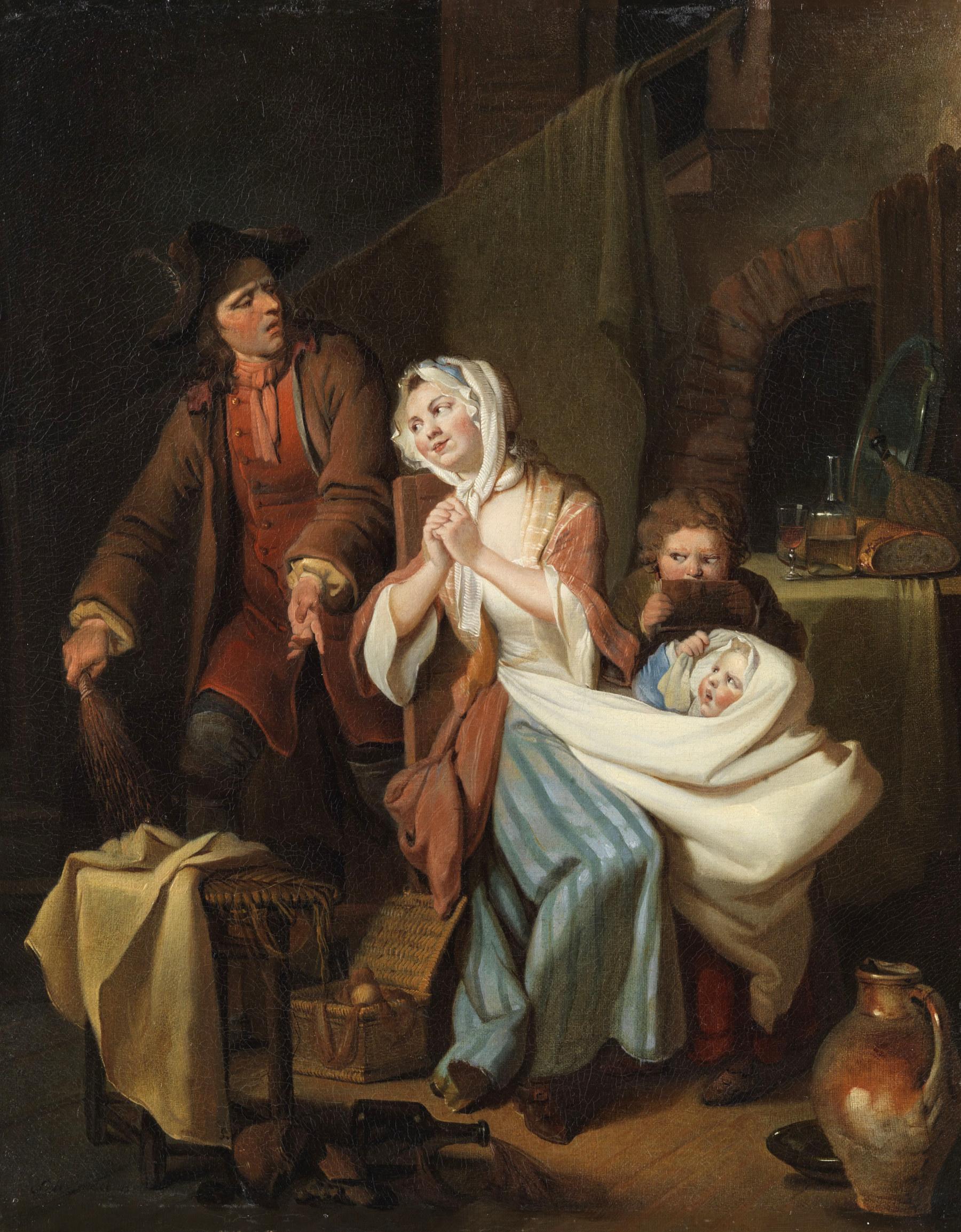 Disturbed Family Life In The Nursery By Johann Eleazar