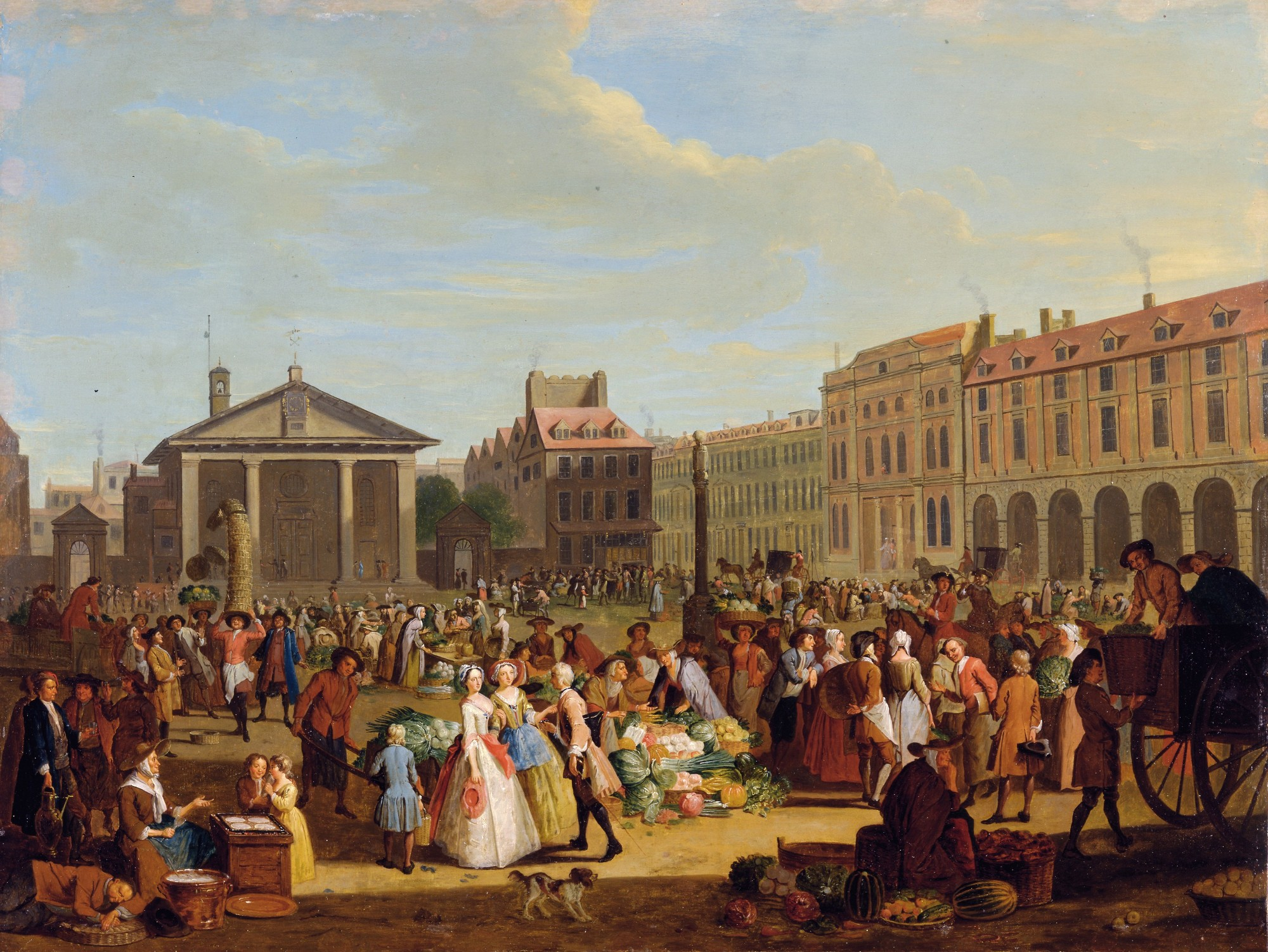 Market at Covent Garden - Pieter Angillis 1726 - The Townsends Blog