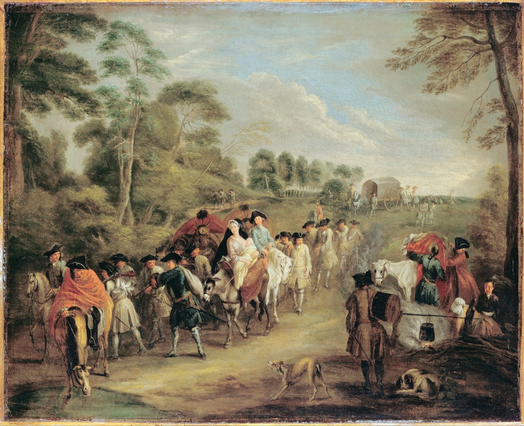 Soldiers on the March - Watteau, Jean-Antoine (1684 - 1721)