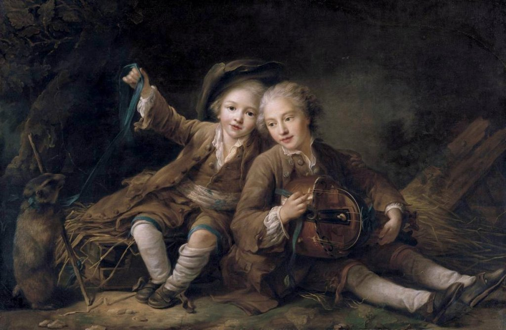 The Children of the Duc de Bouillon Dressed as Montagnards_Hubert Drouais (1727–1775)_1756