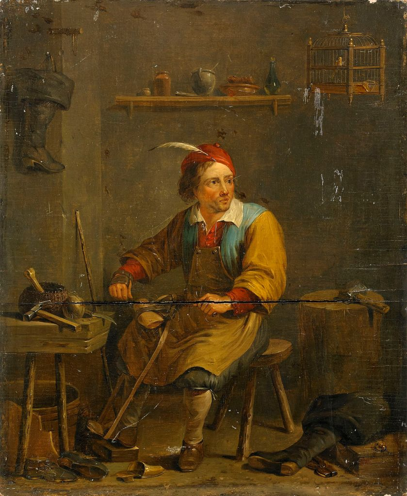 The Shoemaker_Follower of David Teniers II_~1800