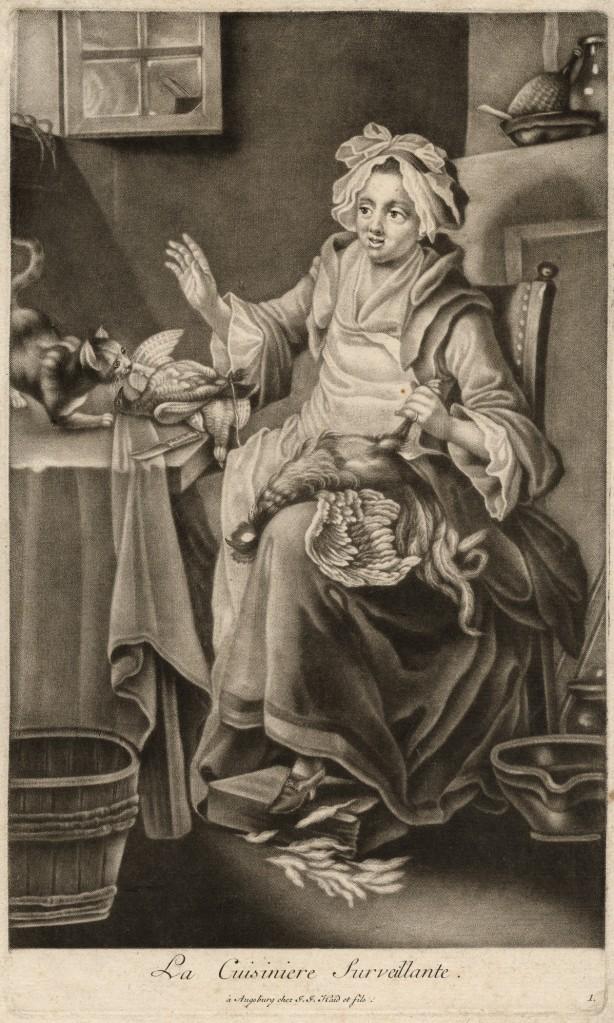 La cuisiniere surveillante_Johann Jacobus Haid(1704-1767) and Johann Elias Haid(1739-1809)_