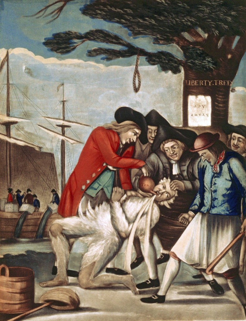 The Bostonians Paying the Excise-man_Philip Dawe (attributed to)_1774