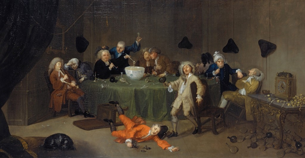 A Midnight Modern Conversation_William Hogarth(1697-1764)_~1732