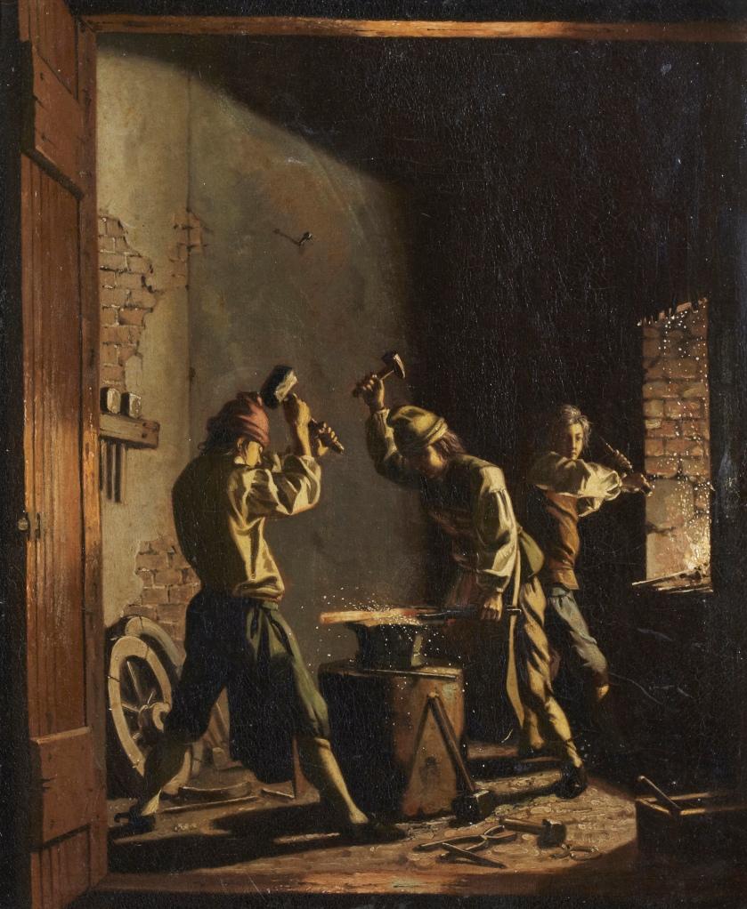 Interior of Blacksmith Shop_pehr hillestrom(1733-1816)_1781