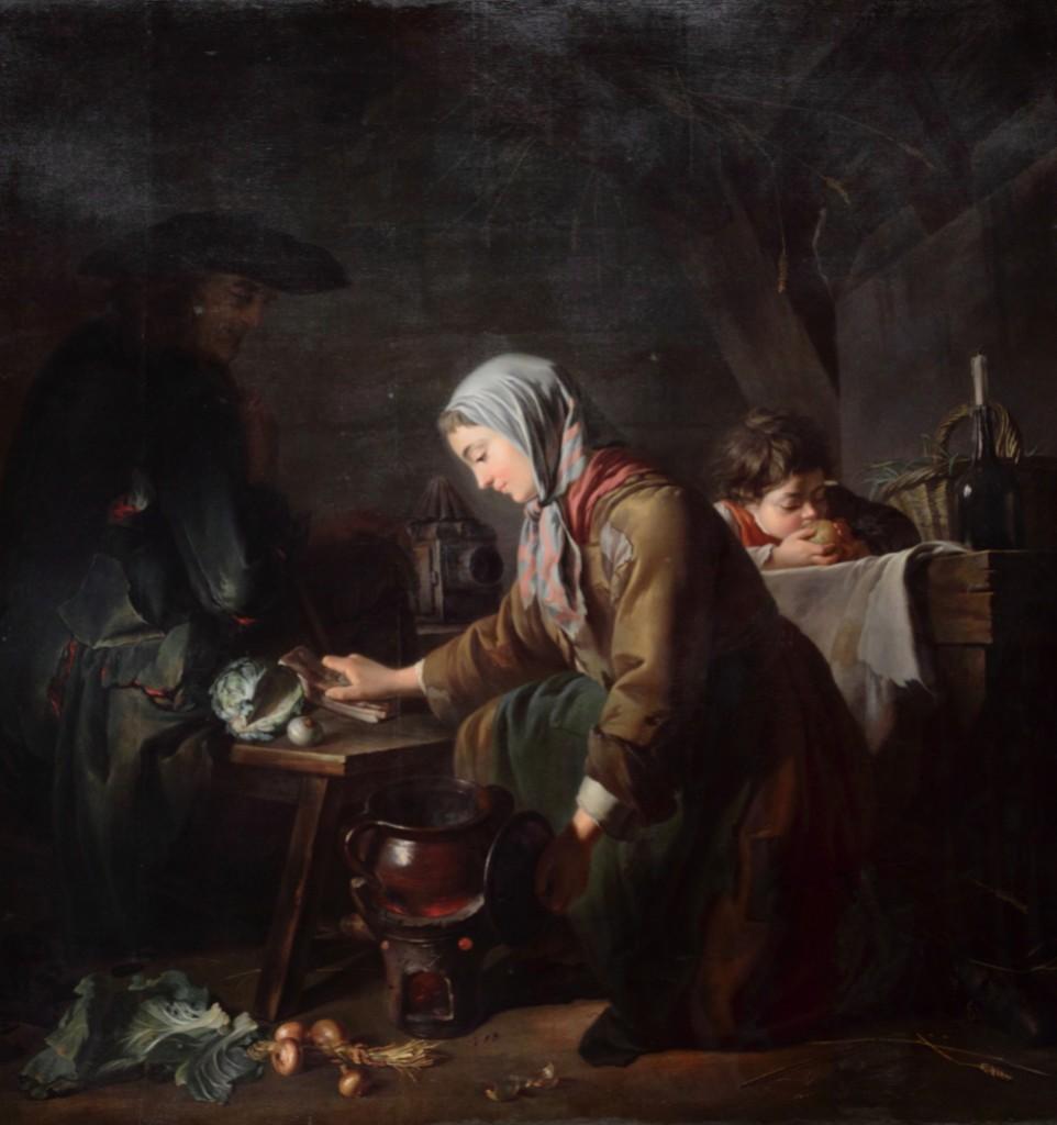 Les Apprêts d'un déjeuner - Nicolas-Bernard Lépicié (1735–1784)
