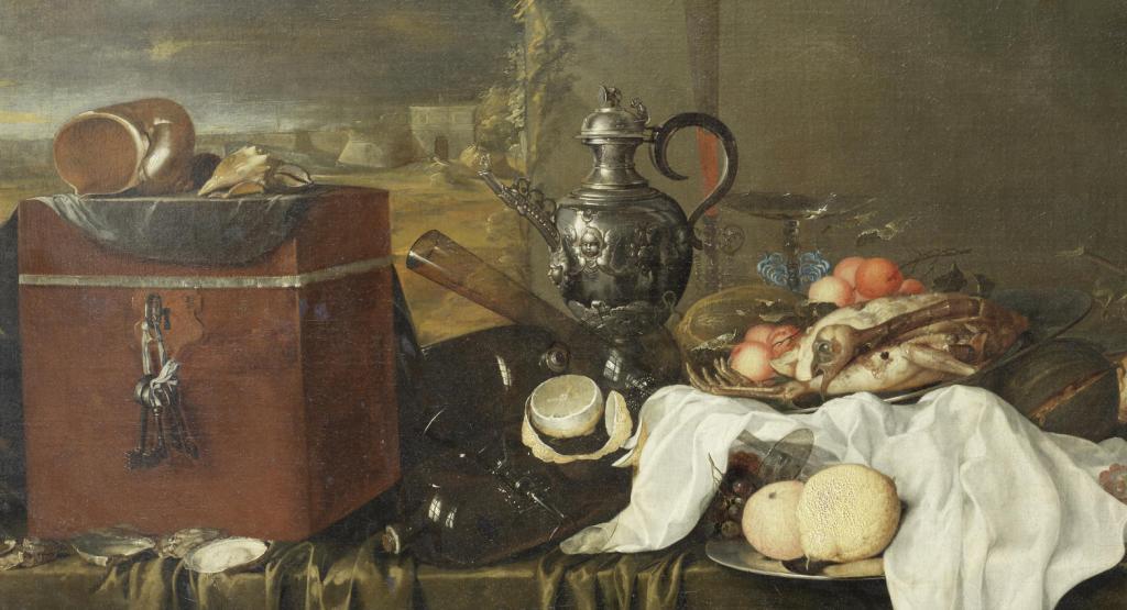Still Life with Shells and Velvet box_jan Davidsz de Heem(1606-1684)_