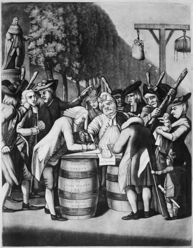 The alternative of Williamsburg_Philip Dawe(173?-1832)_1775