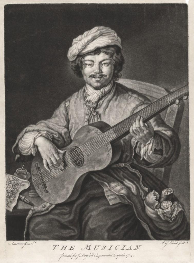 The Musician - Johann Lorenz Haid(1702-1750)_