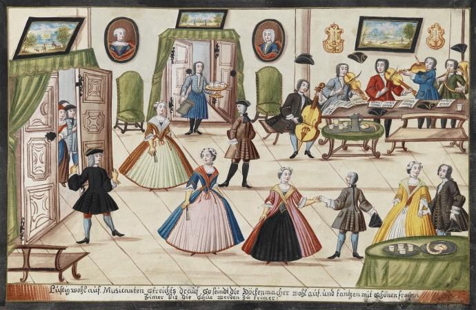 A Private Ball_Johan Franz Hormannsperger_1736