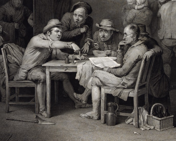 siftingthepast_Center Table Detail - Village Politicians_David Wilkie and Abraham Raimbach_1813