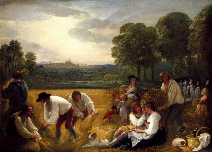 Harvesting at Windsor_Benjamin West_1795
