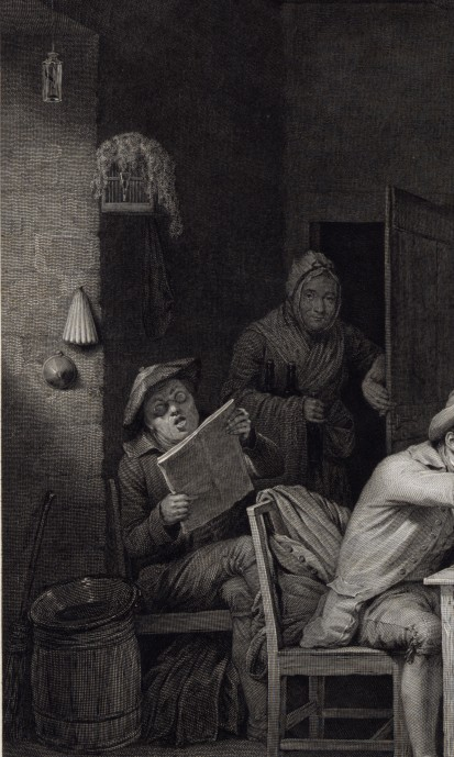 Left Side Detail - Village Politicians_David Wilkie and Abraham Raimbach_1813