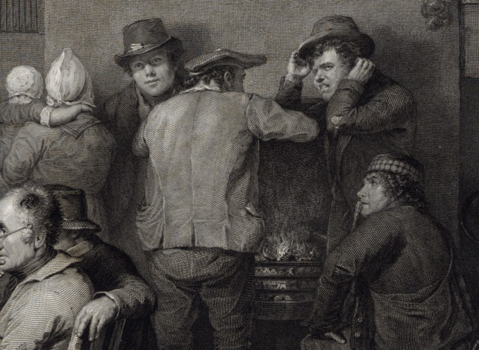 Middle Group Detail - Village Politicians_David Wilkie and Abraham Raimbach_1813