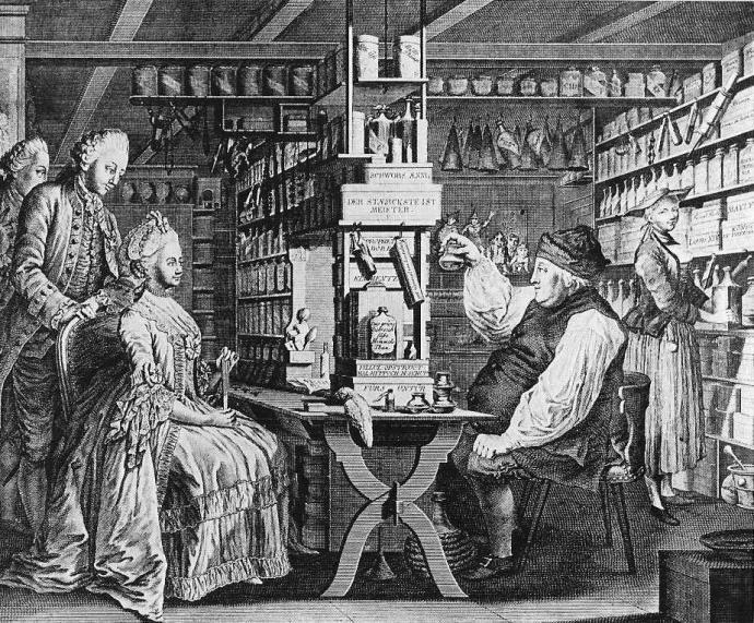 Pharmacie Rustique  Locher  -  Hübner 1775