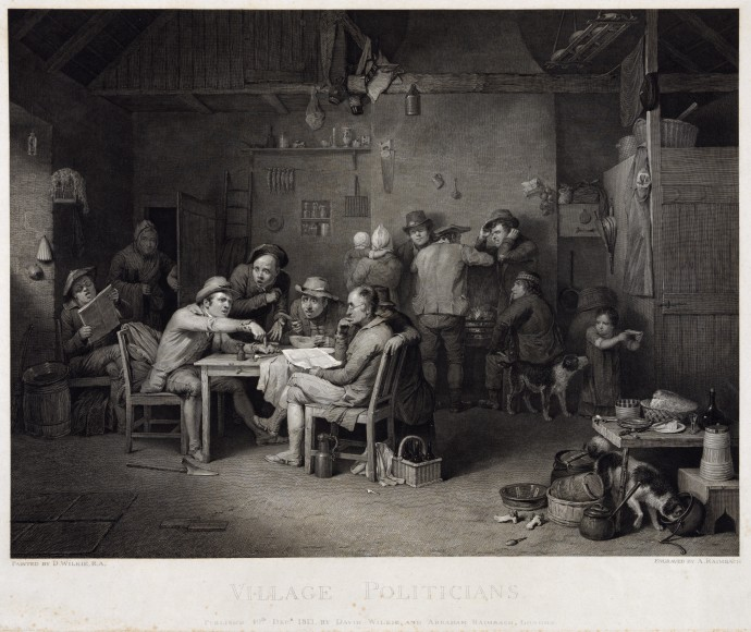 Village Politicians_David Wilkie and Abraham Raimbach_1813