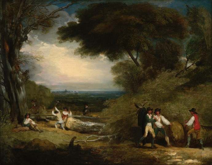 Woodcutters in Windsor Park_Benjamin West_1793