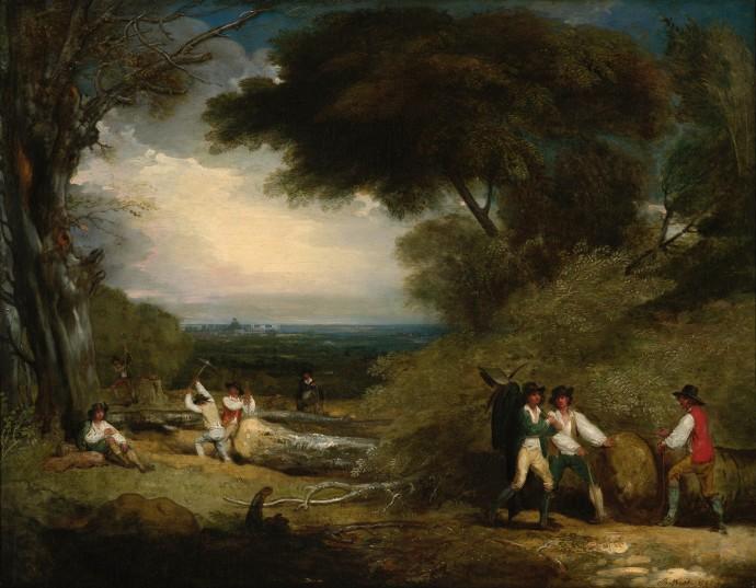 Woodcutters in Windsor Park_Benjamin West_1793