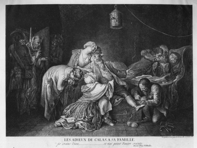 Calas farewell to his family_Daniel Chodowiecki_1767