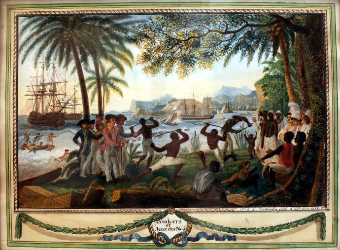 Games and fights of the Negroes_François Aimé Louis Dumoulin (1753–1834)_1788