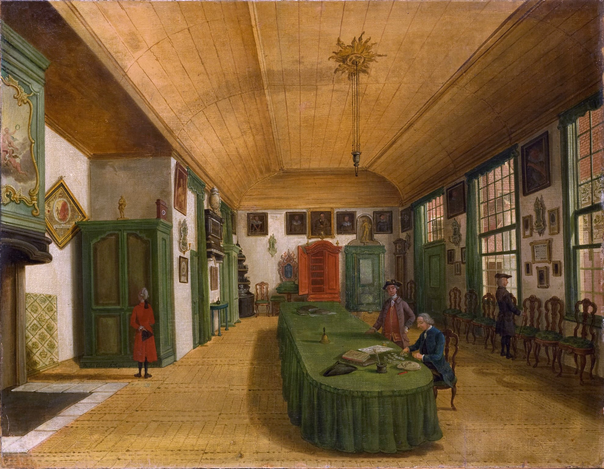Interior of the hall of the Leiden Society by Paulus Constantjin la  1979 x 1536