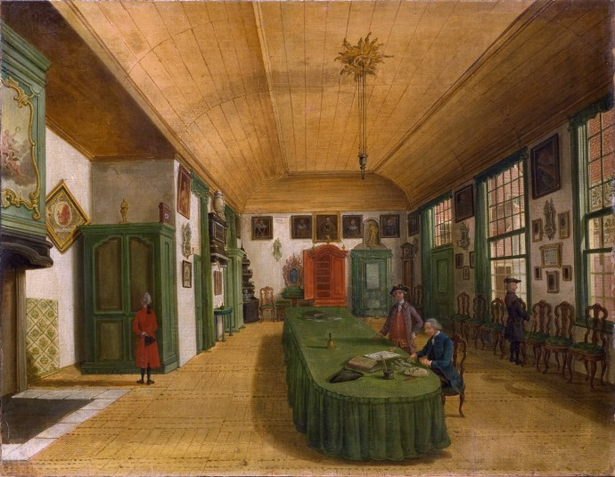 Interior of the hall of the Leiden Society_ Paulus Constantjin la Fargue(1729-1782)_1780