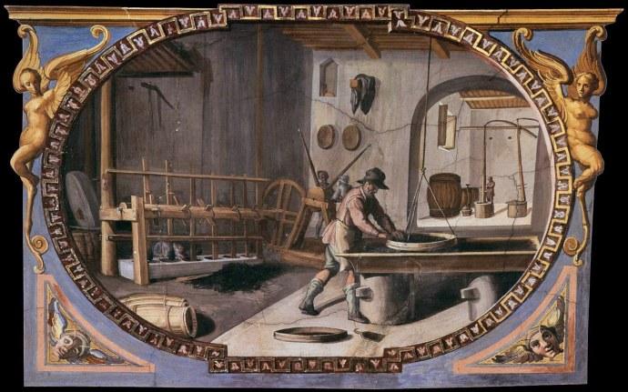 Preparation-of-Gunpowder_Lodovico Buti_16th century
