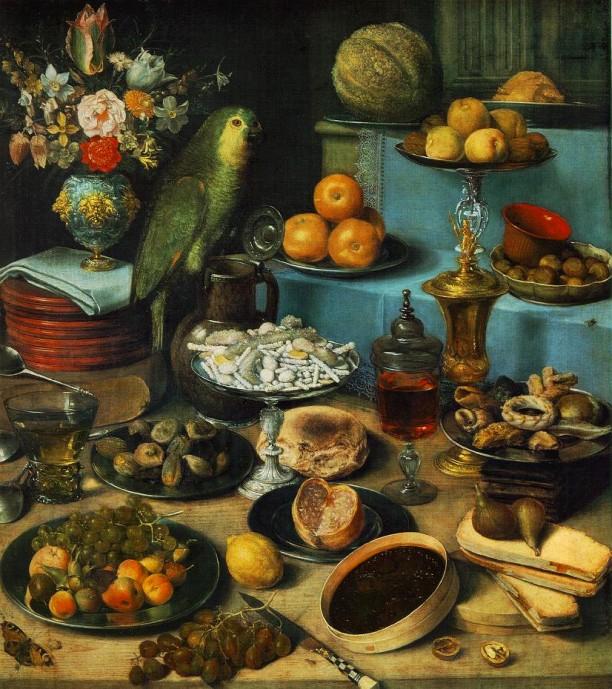 Still-life-with-parrot_Georg Flegel(1566-1638)_