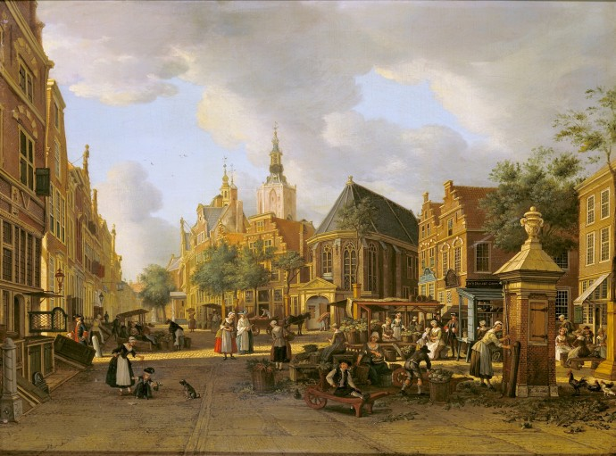The Groenmarkt as seen Toward the Westeinde_Paulus Constantijn la Fargue_~1765