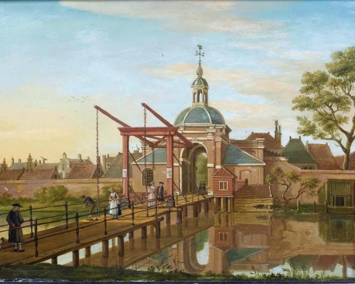 View of the Koepoort in Leiden _ Paulus Constantijn La Fargue_~1770