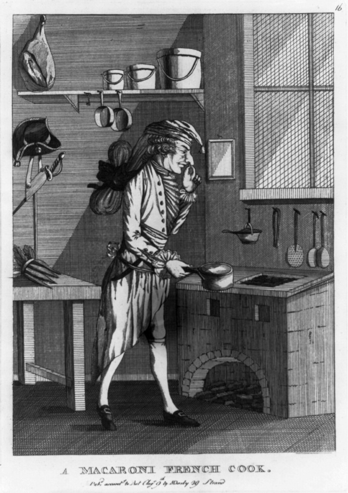 A macaroni french cook by m darly 1772 the townsends blog for 18th century cuisine