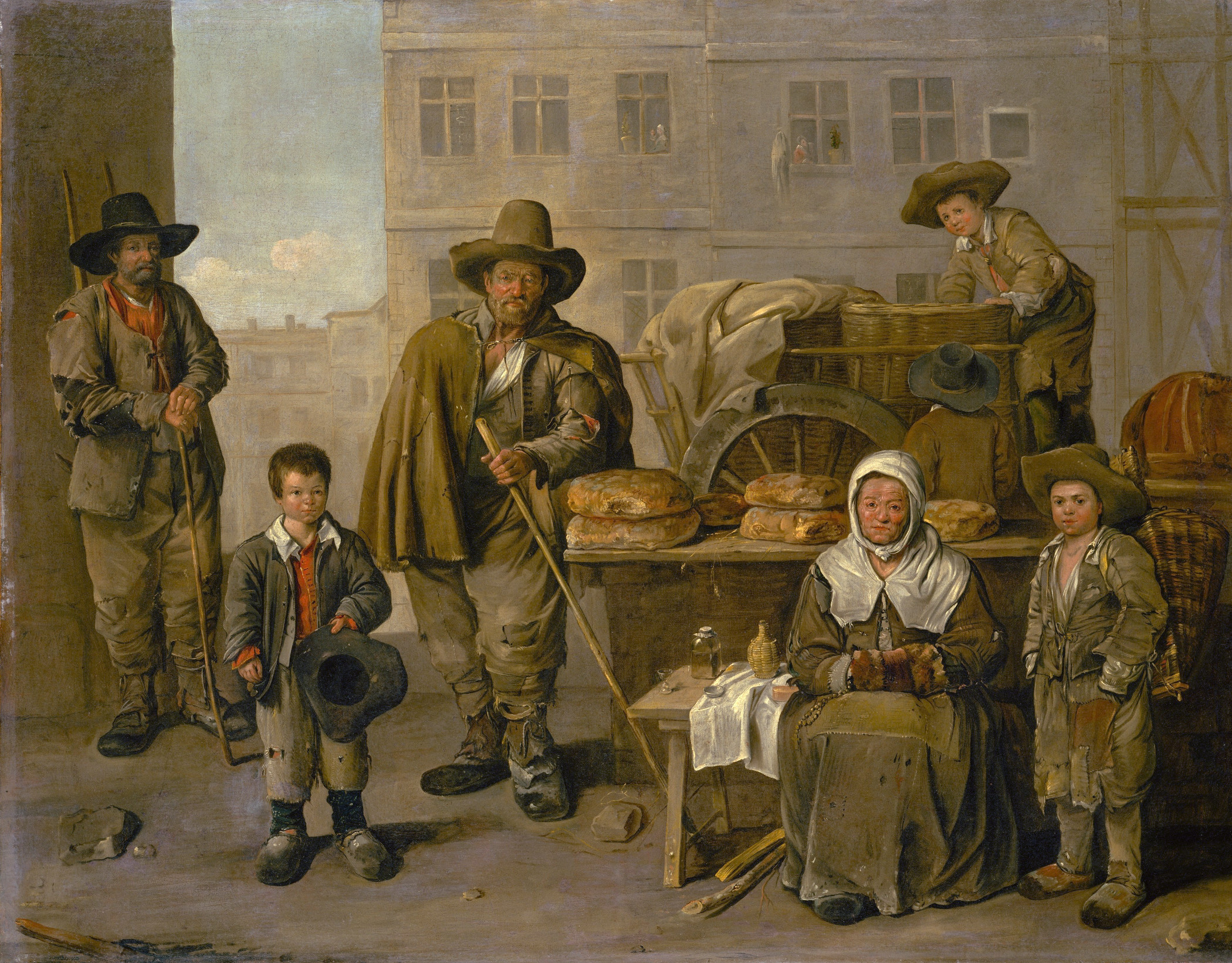 The Bakers Cart by Jean Michelin 1656