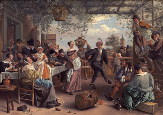 The Dancing Couple_Jan Steen(Dutch 1626-1679 )_1663