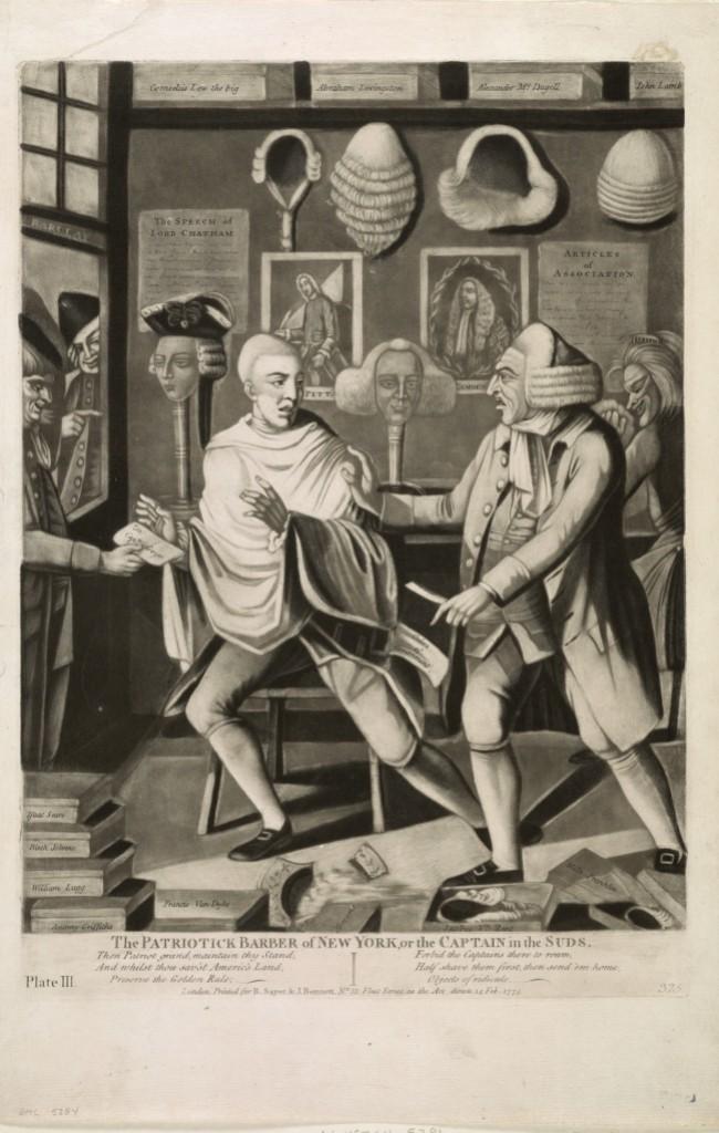 The Patriotick Barber of New York_Phillip Dawe_1775