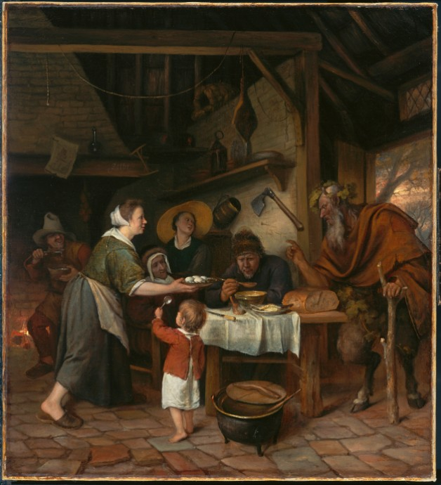 The Satyr and the Peasant Family_Jan Steen(Dutch 1626-1679)_1661