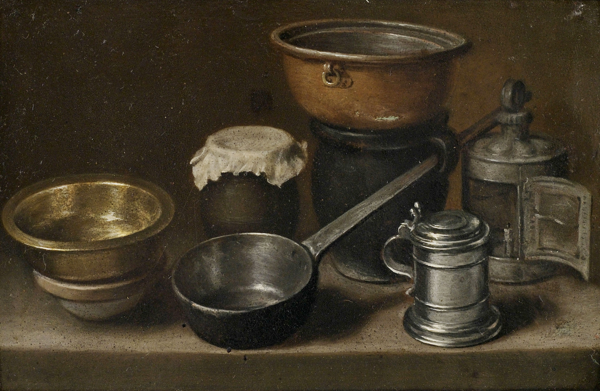 Still Life With Kitchen Items Attributed To Martin Dichtl