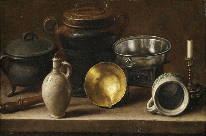 Still Life With Kitchen Utensils Attributed To Martin